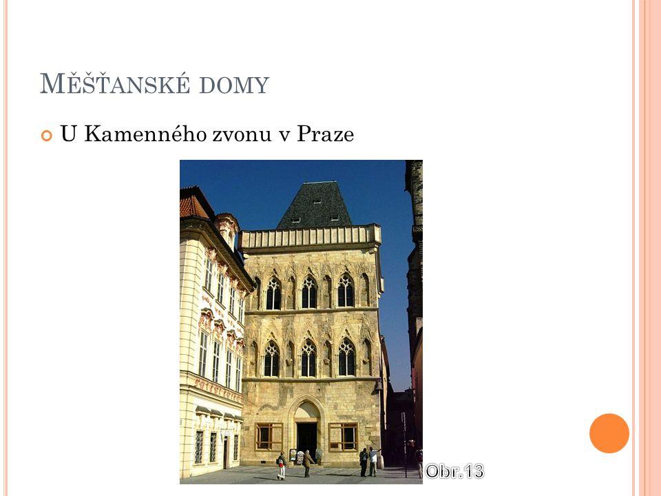 Měšťanské domy U Kamenného zvonu v Praze Obr.13