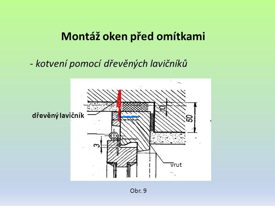 Montáž oken před omítkami