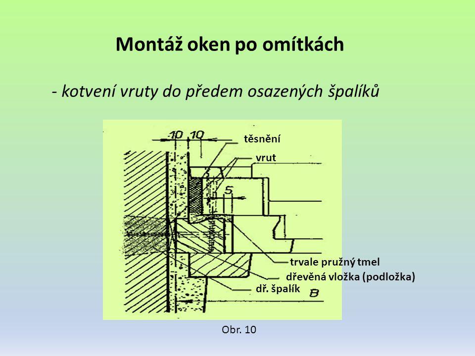 Montáž oken po omítkách