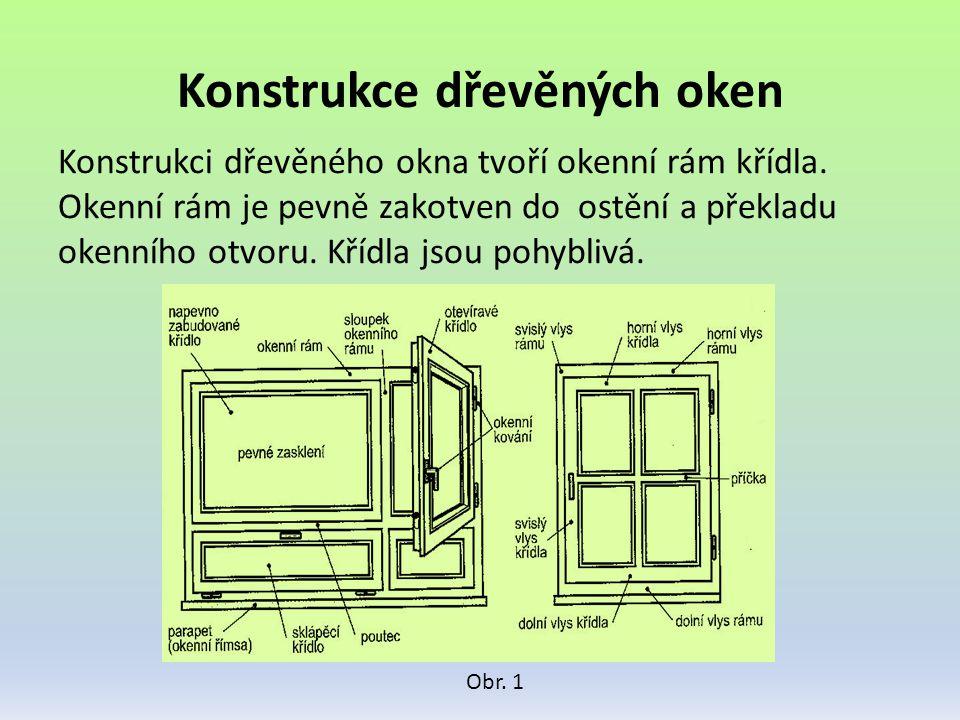 Konstrukce dřevěných oken