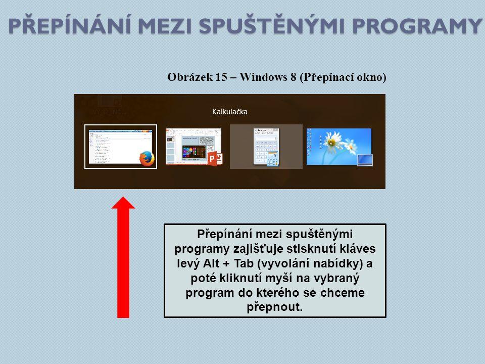 Přepínání mezi spuštěnými programy