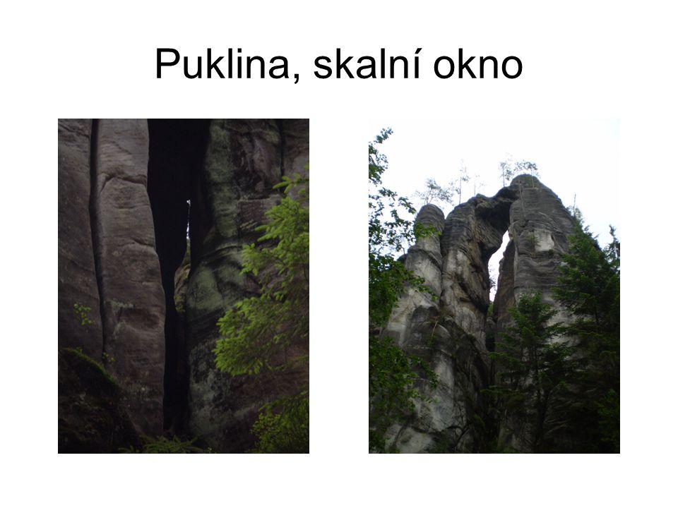 Puklina, skalní okno