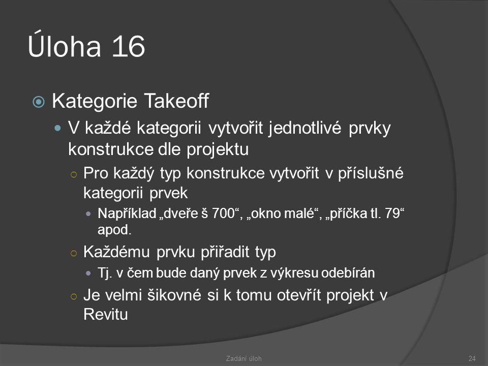 Úloha 16 Kategorie Takeoff
