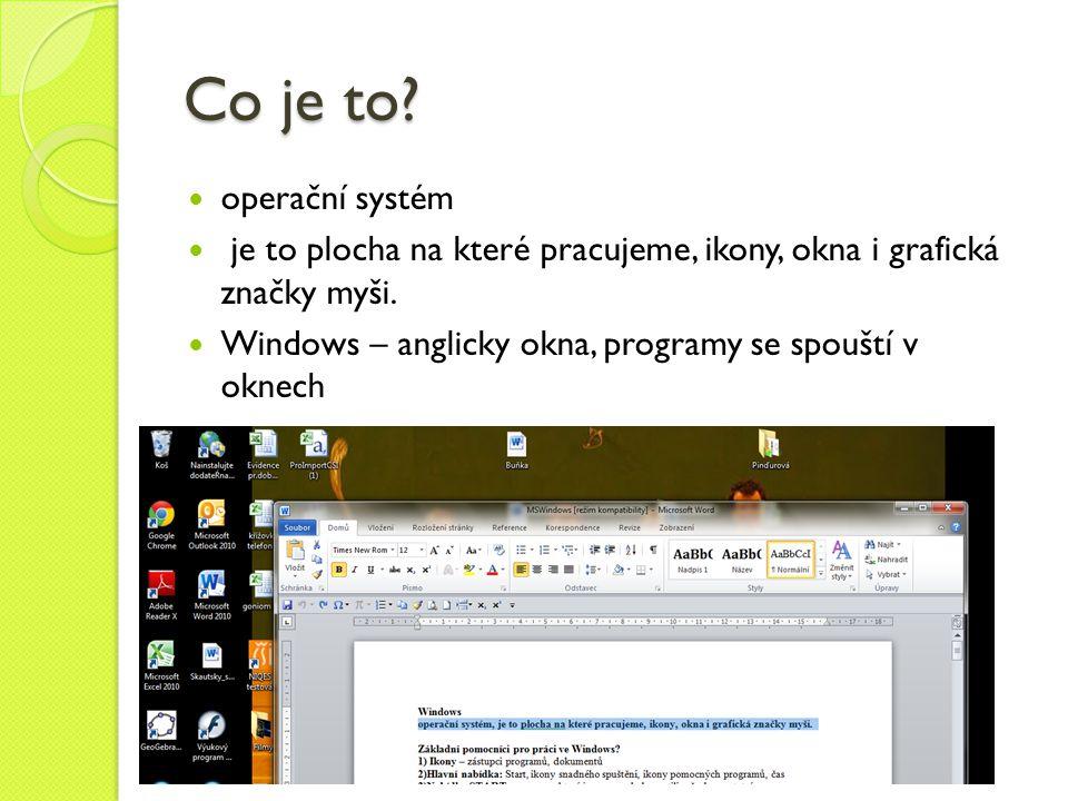 Co je to operační systém