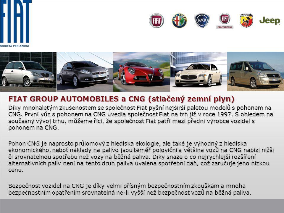 FIAT GROUP AUTOMOBILES a CNG (stlačený zemní plyn)