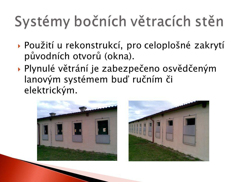 Systémy bočních větracích stěn