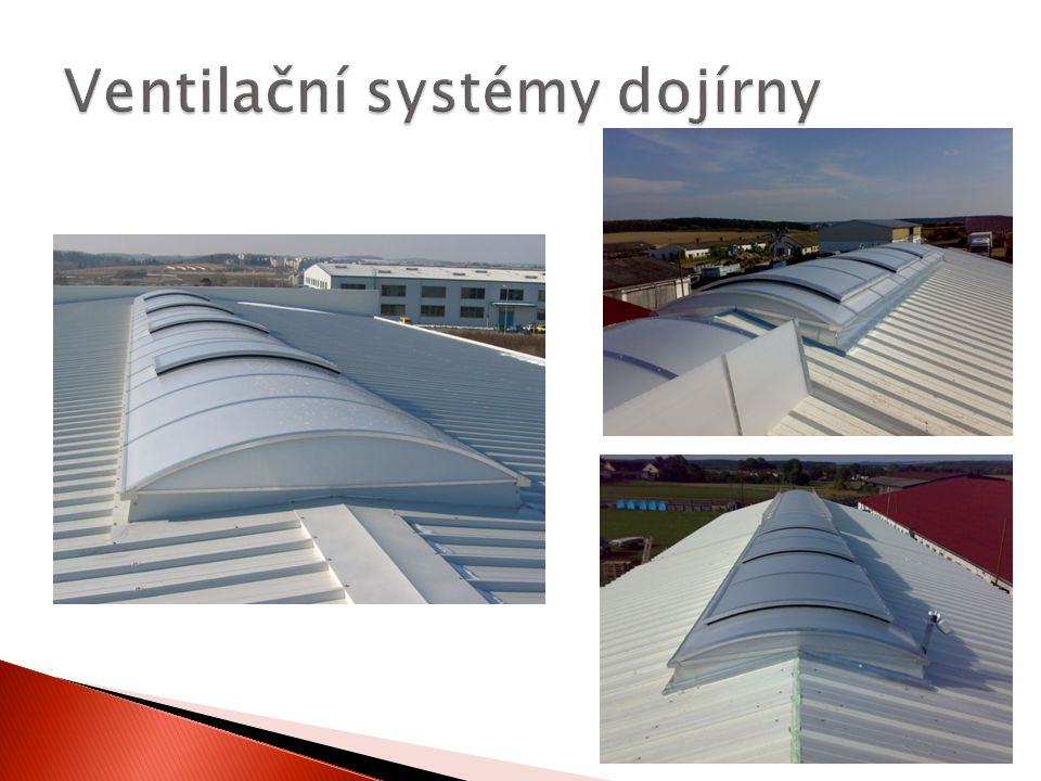 Ventilační systémy dojírny