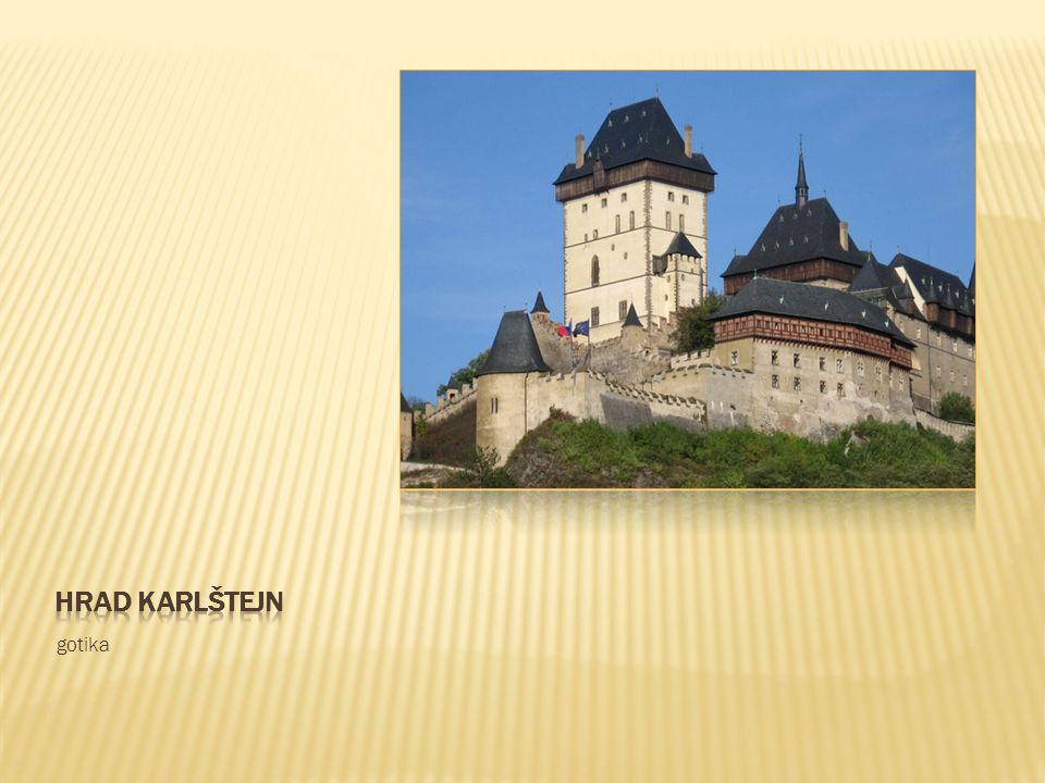Hrad karlštejn gotika