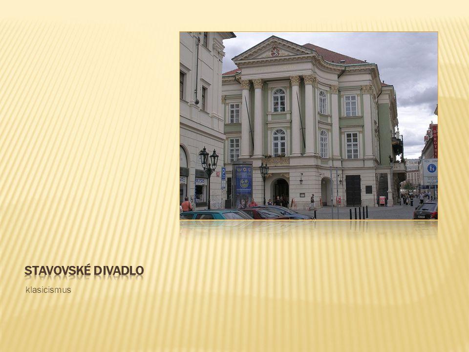 Stavovské divadlo klasicismus