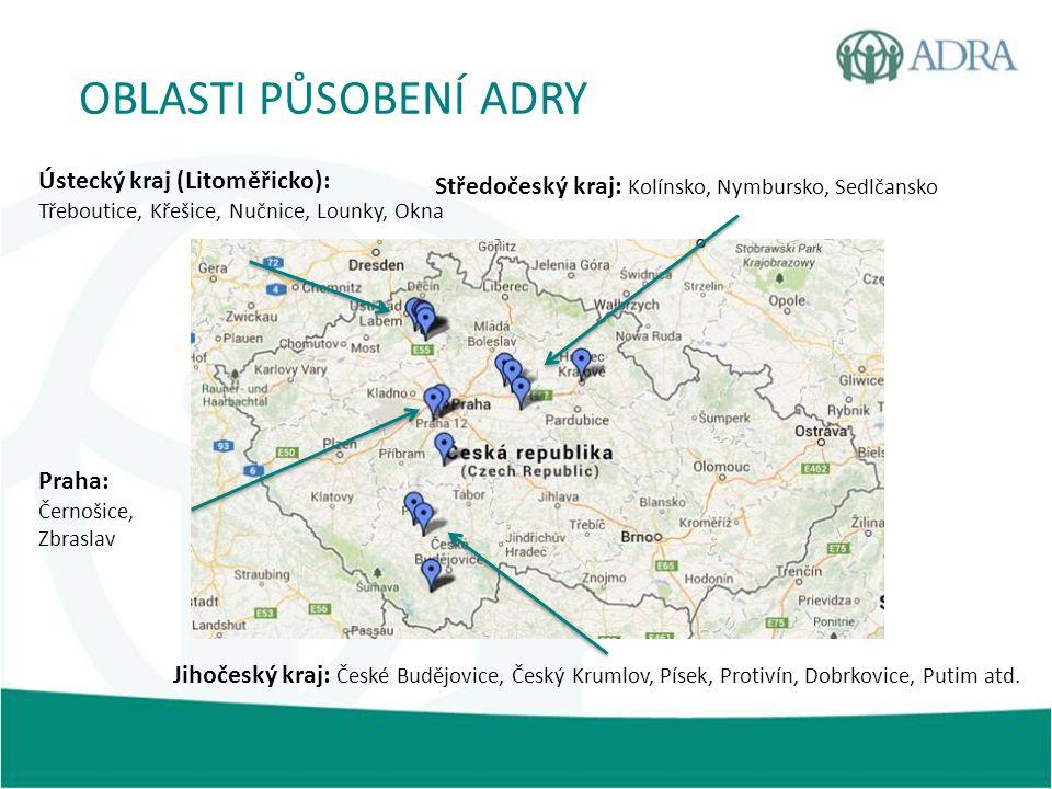 OBLASTI PŮSOBENÍ ADRY Ústecký kraj (Litoměřicko):