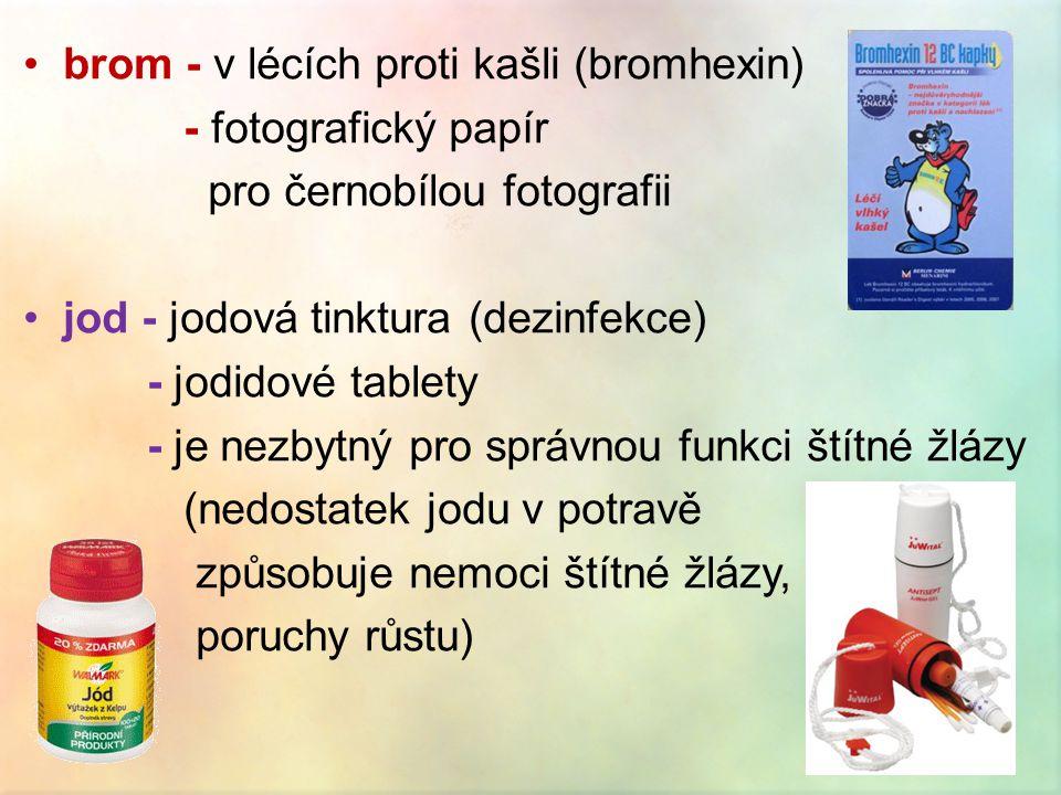 brom - v lécích proti kašli (bromhexin)