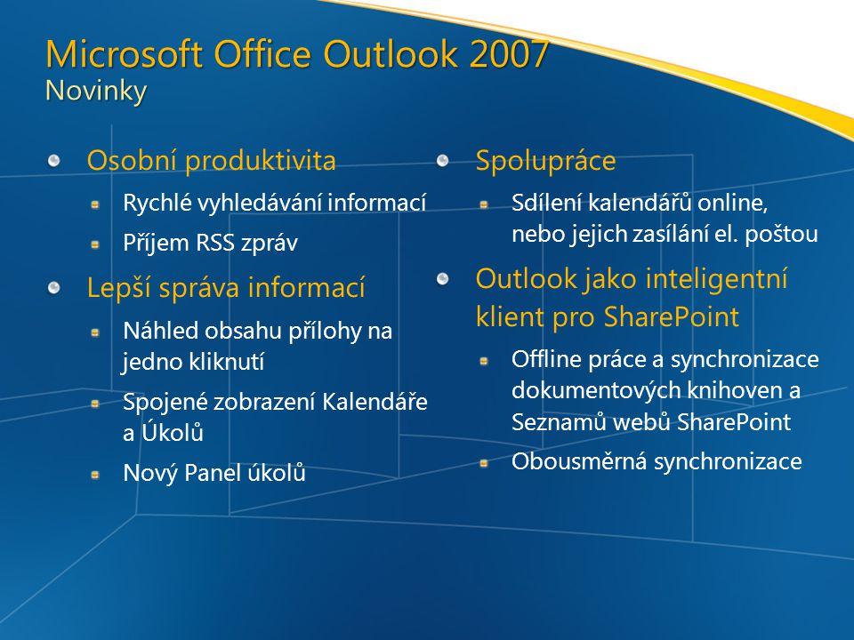 Microsoft Office Outlook 2007 Novinky