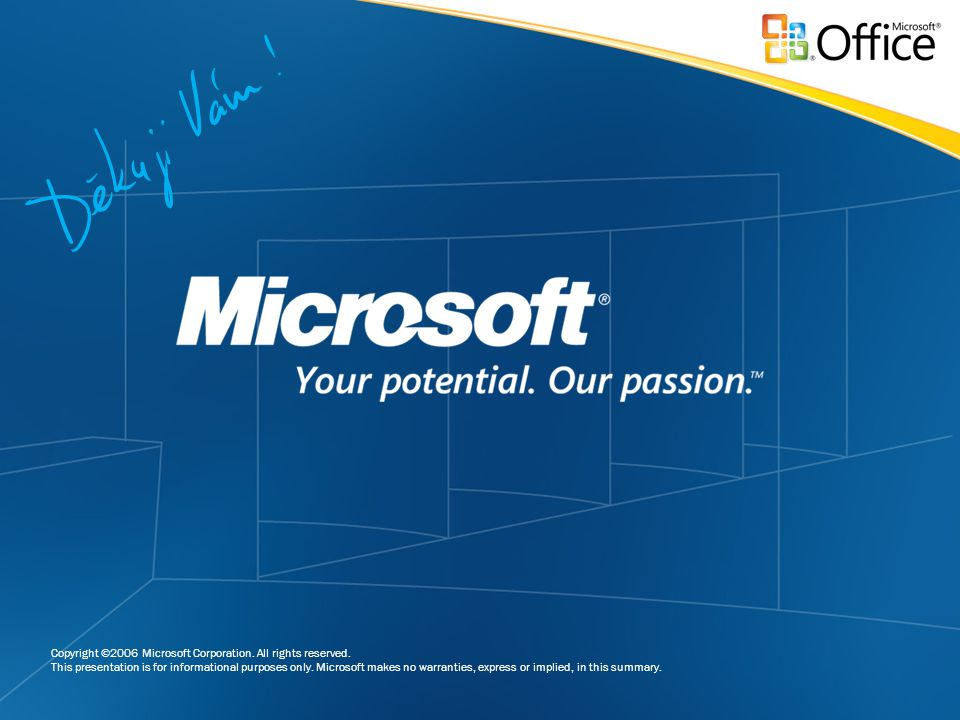 Copyright ©2006 Microsoft Corporation. All rights reserved.