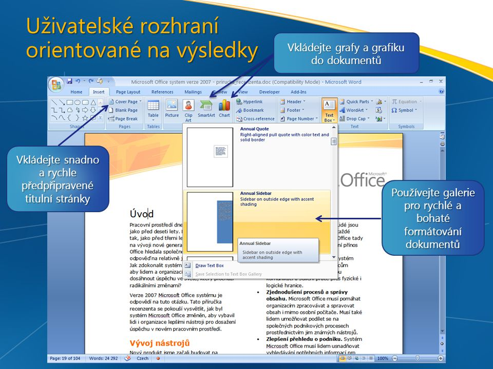 Uživatelské rozhraní orientované na výsledky