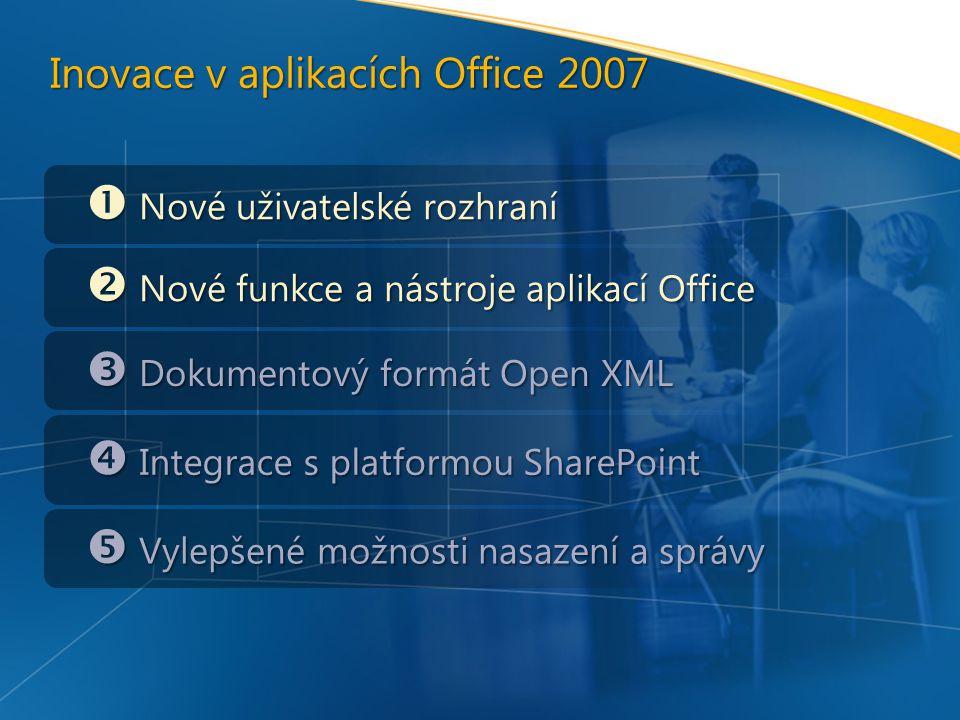 Inovace v aplikacích Office 2007