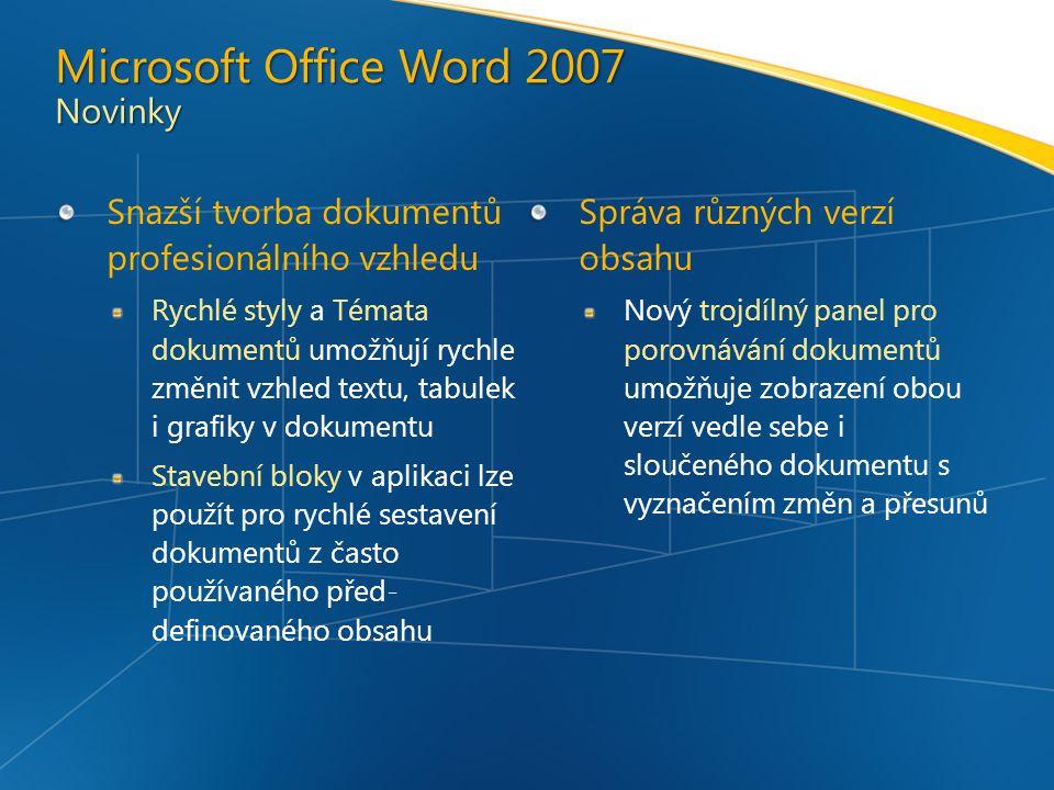 Microsoft Office Word 2007 Novinky