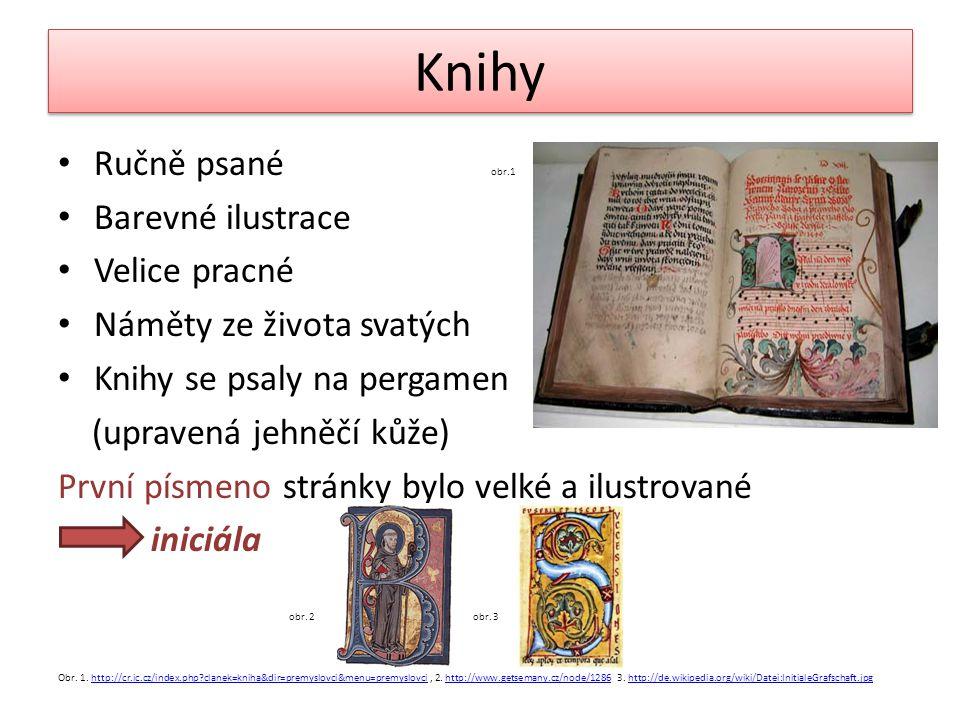 Knihy Ručně psané obr.1 Barevné ilustrace Velice pracné