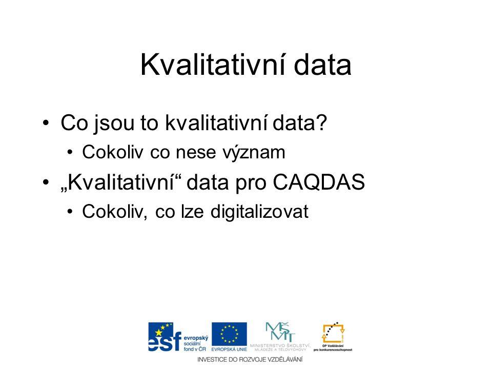Kvalitativní data Co jsou to kvalitativní data
