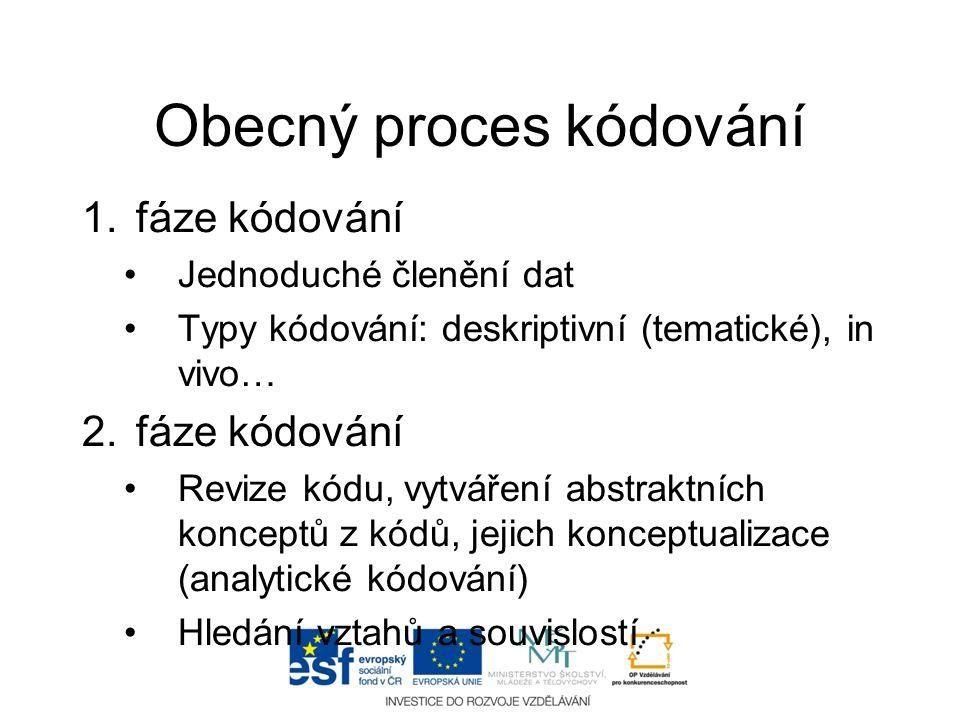 Obecný proces kódování