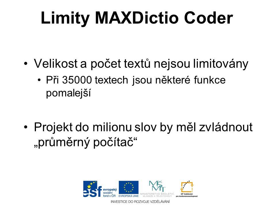 Limity MAXDictio Coder