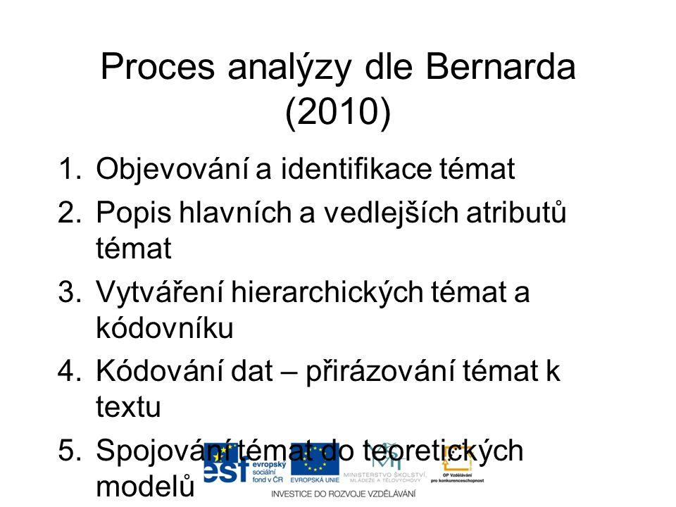 Proces analýzy dle Bernarda (2010)