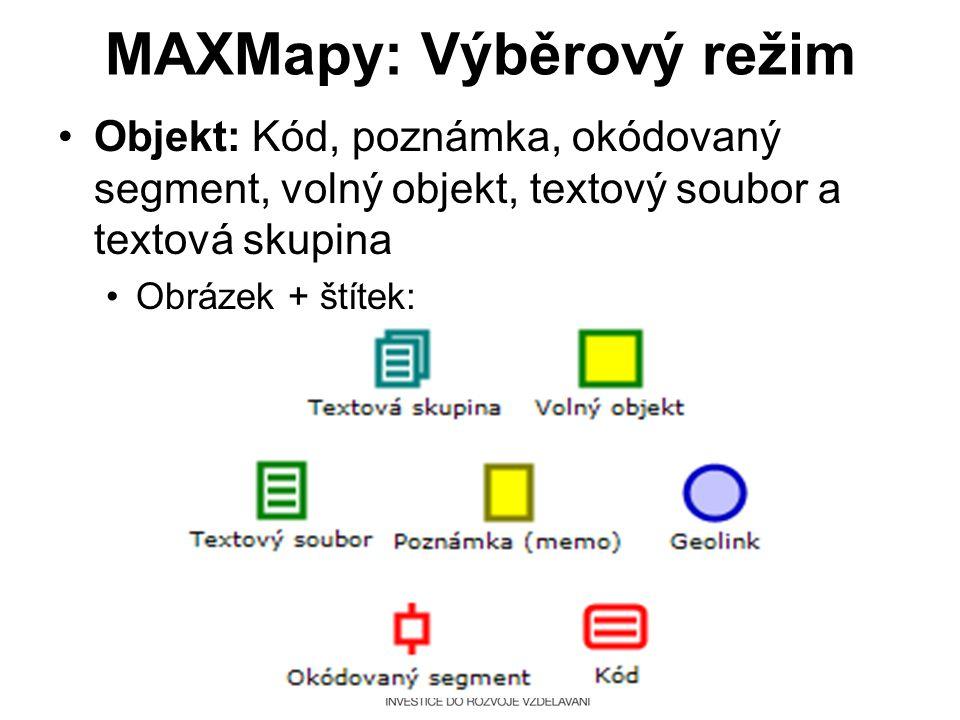 MAXMapy: Výběrový režim