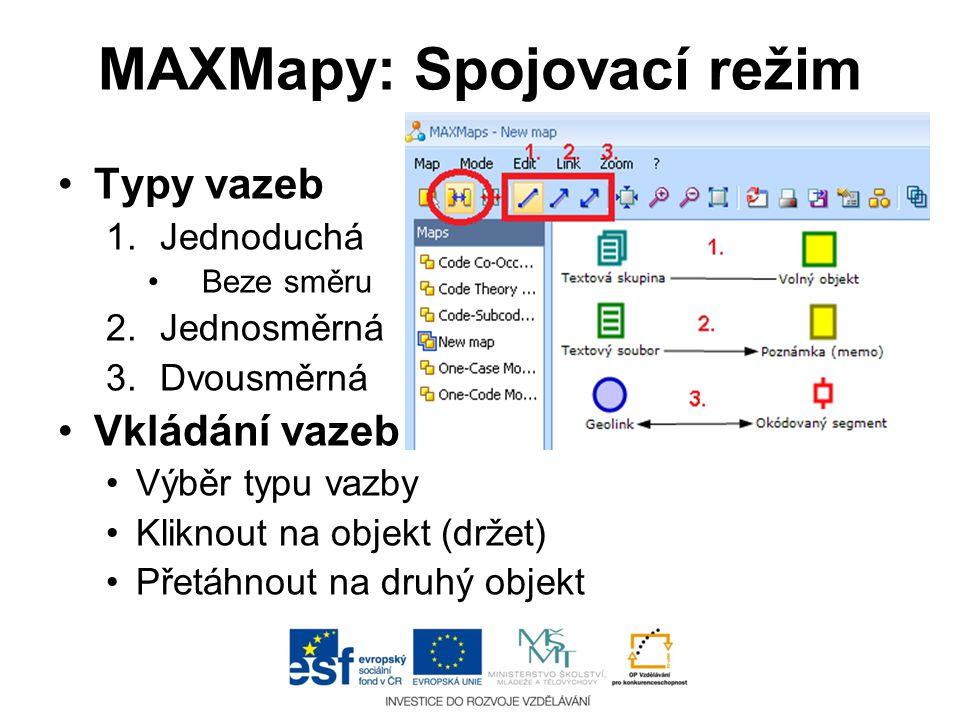 MAXMapy: Spojovací režim