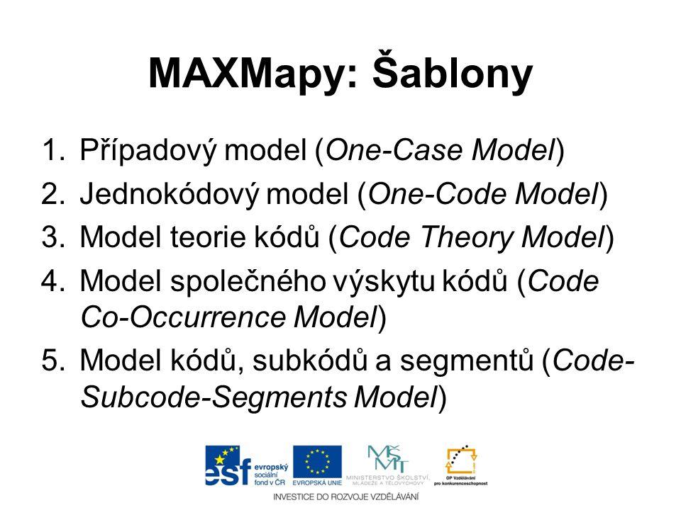 MAXMapy: Šablony Případový model (One-Case Model)
