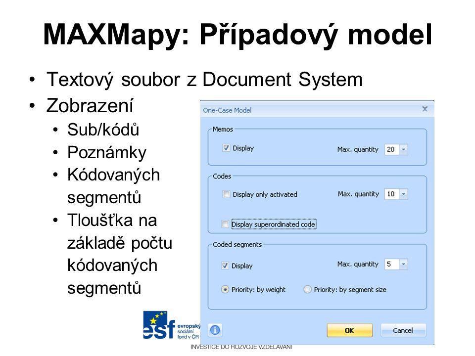 MAXMapy: Případový model