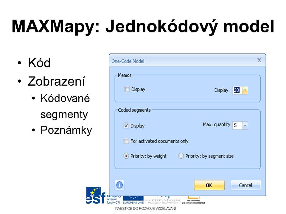 MAXMapy: Jednokódový model