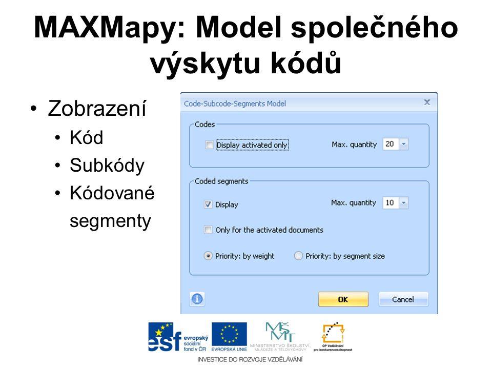 MAXMapy: Model společného výskytu kódů