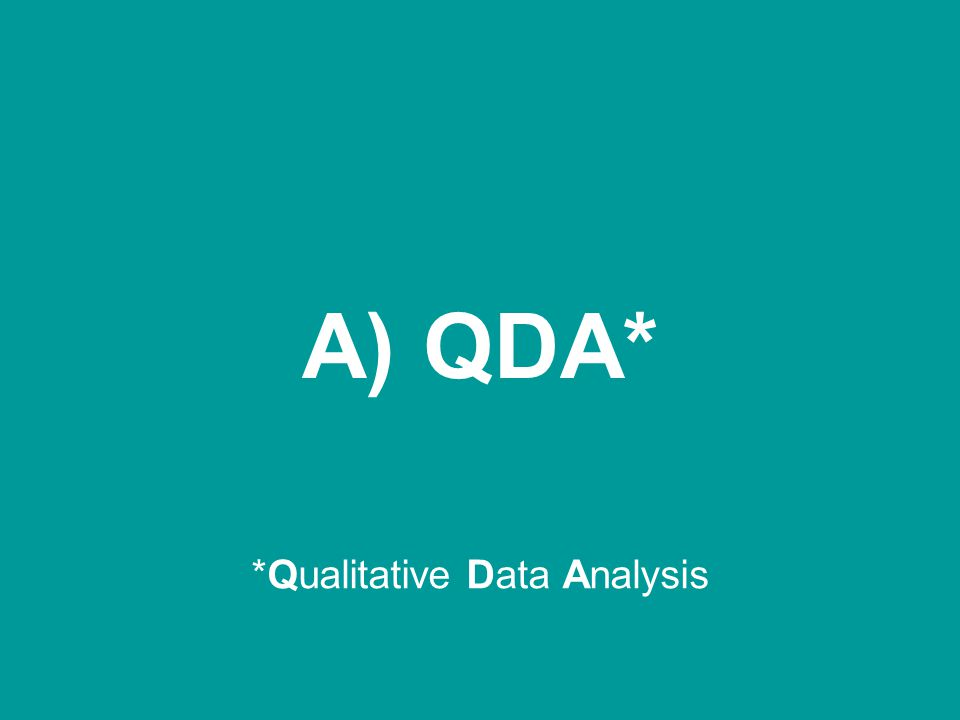 *Qualitative Data Analysis