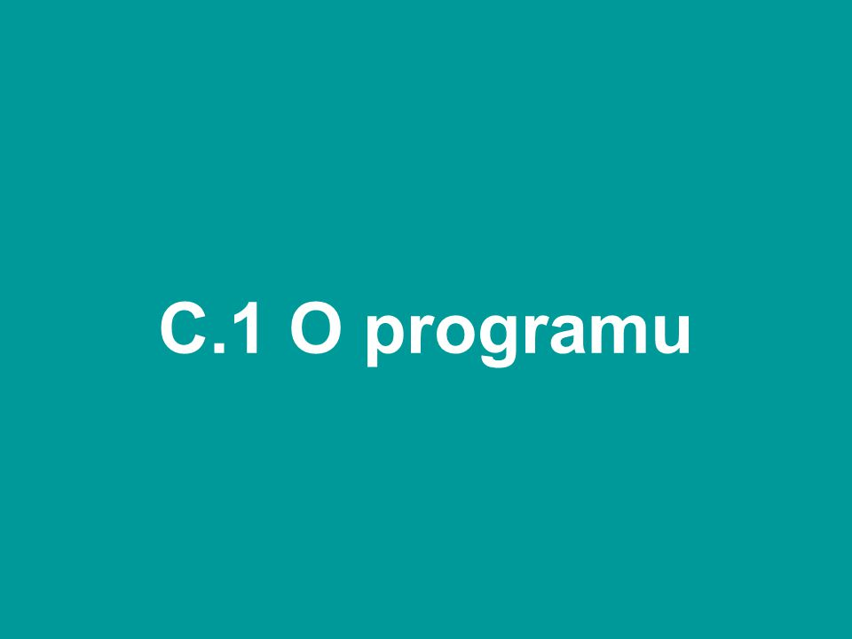 C.1 O programu