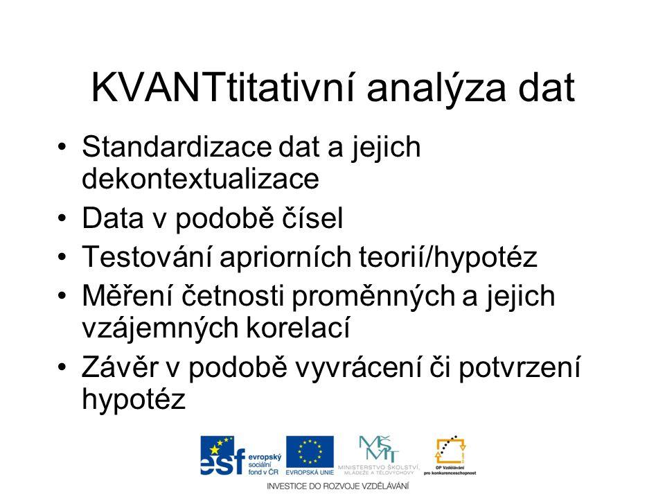 KVANTtitativní analýza dat