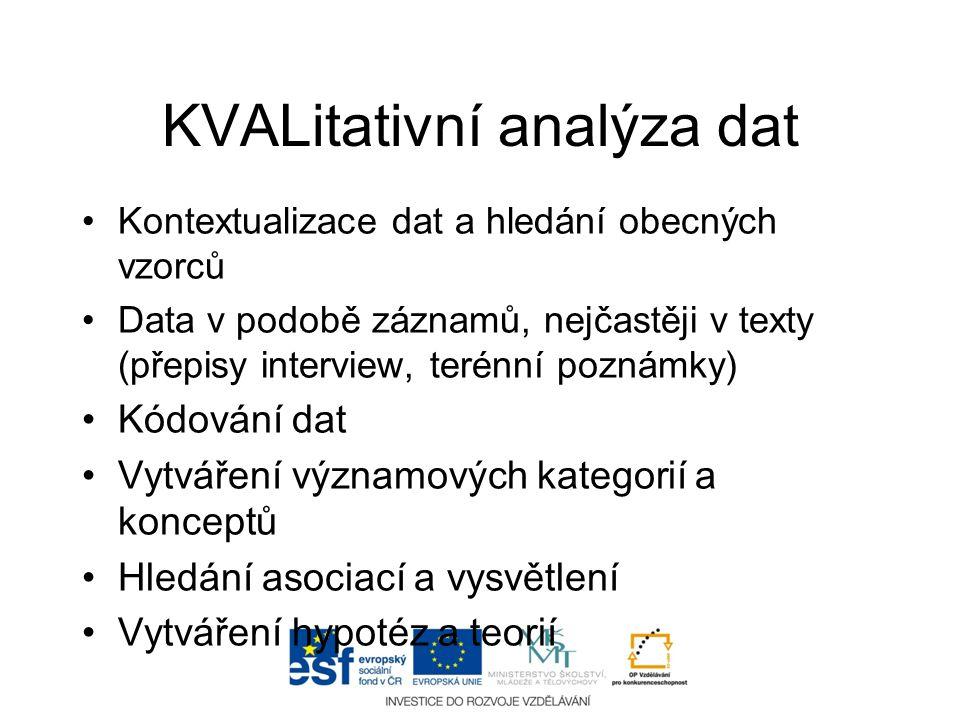 KVALitativní analýza dat