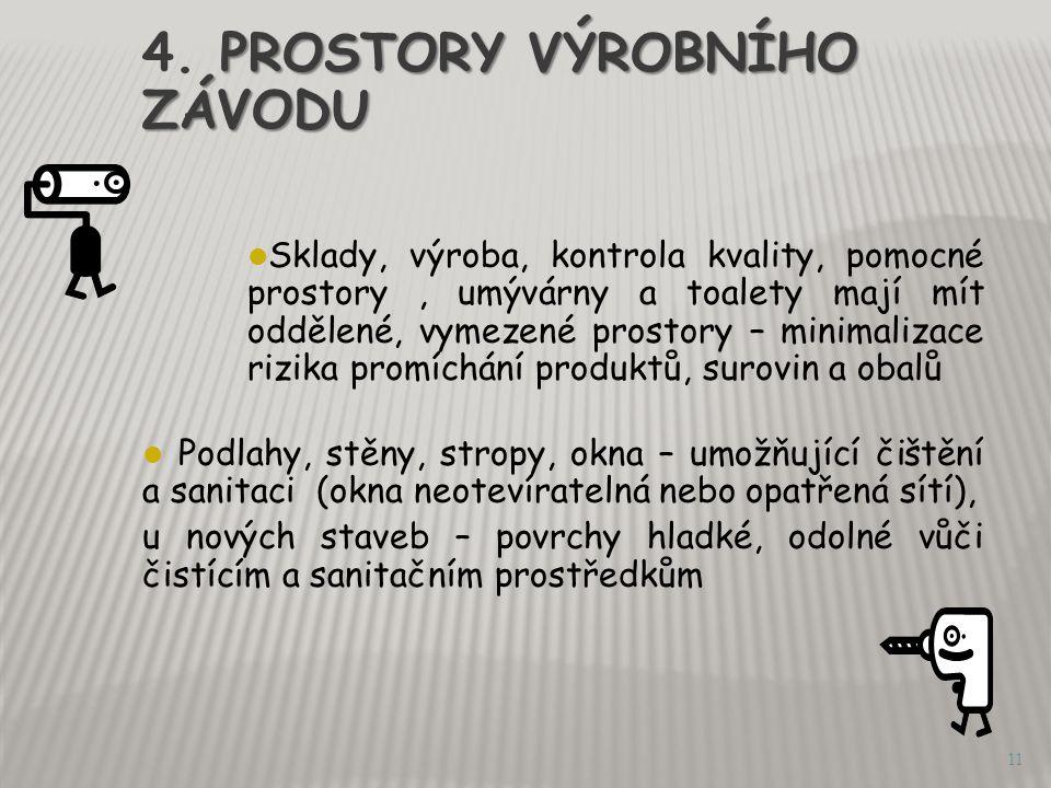 4. PROSTORY VÝROBNÍHO ZÁVODU