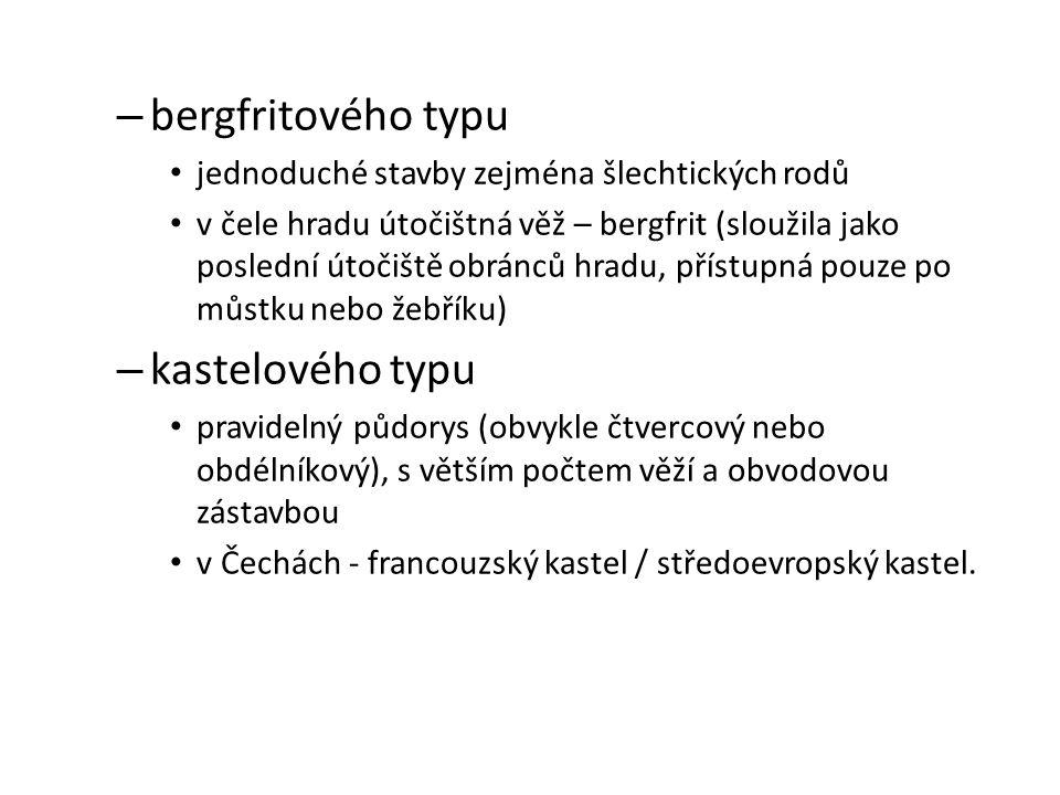 bergfritového typu kastelového typu