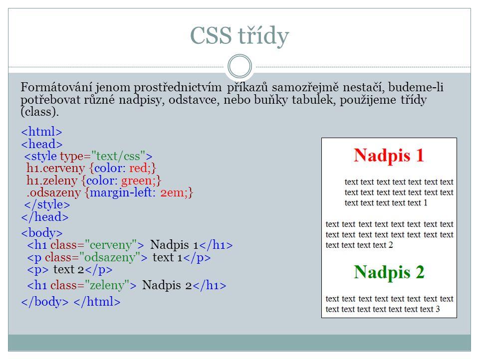 CSS třídy