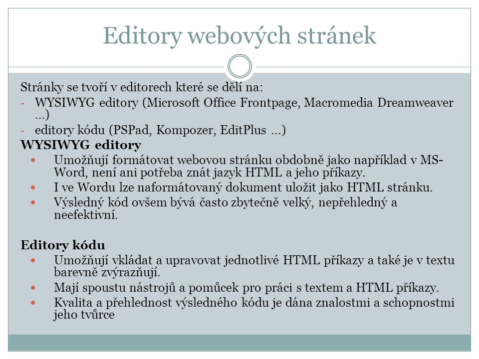 Editory webových stránek