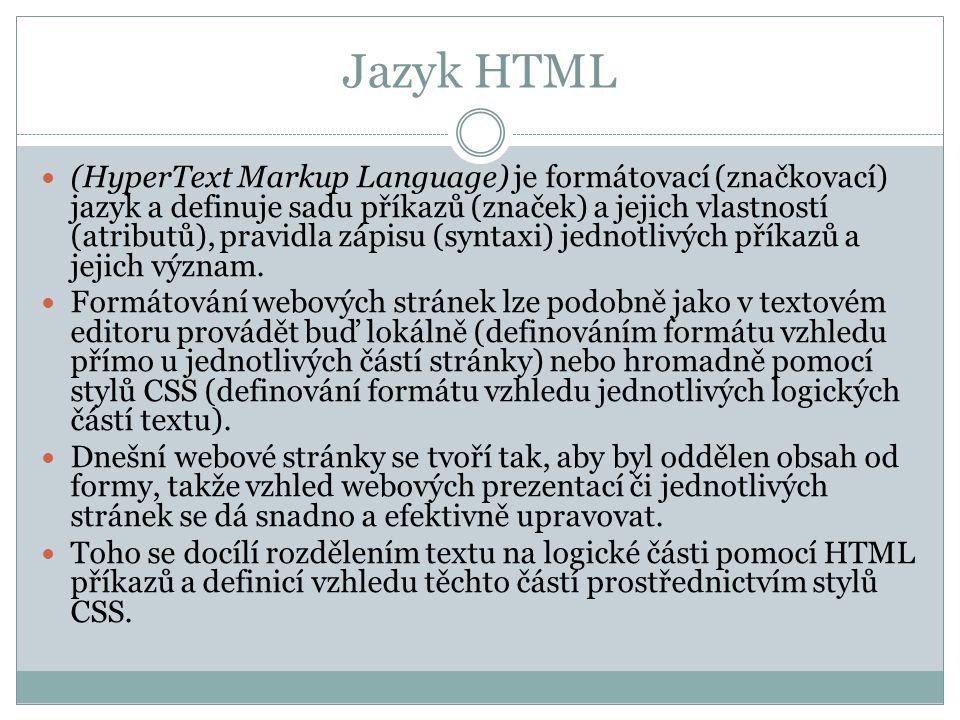 Jazyk HTML