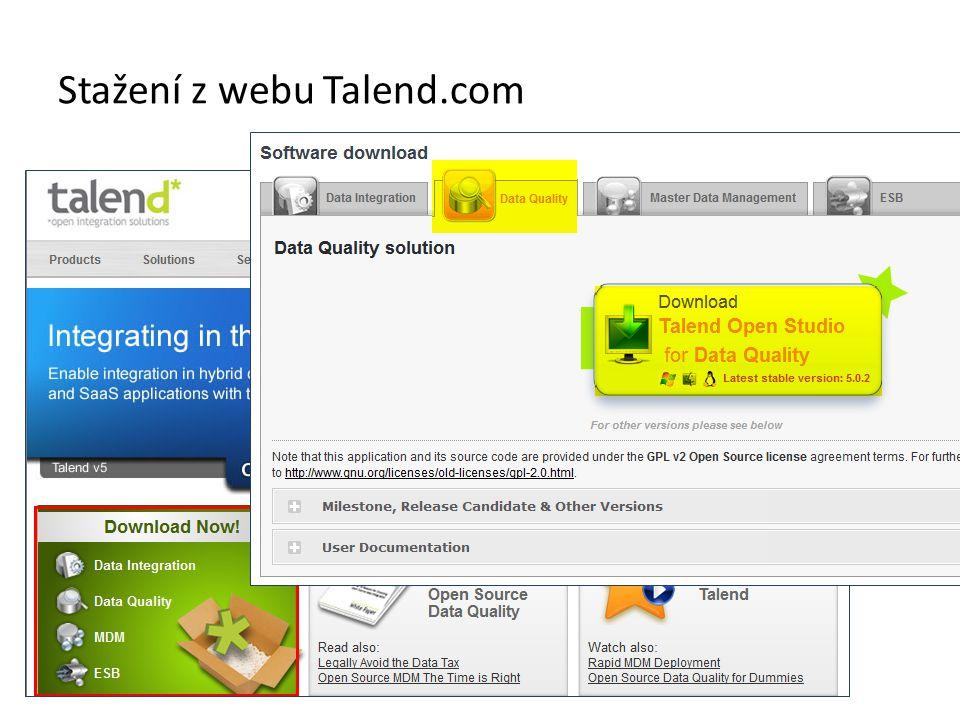Stažení z webu Talend.com