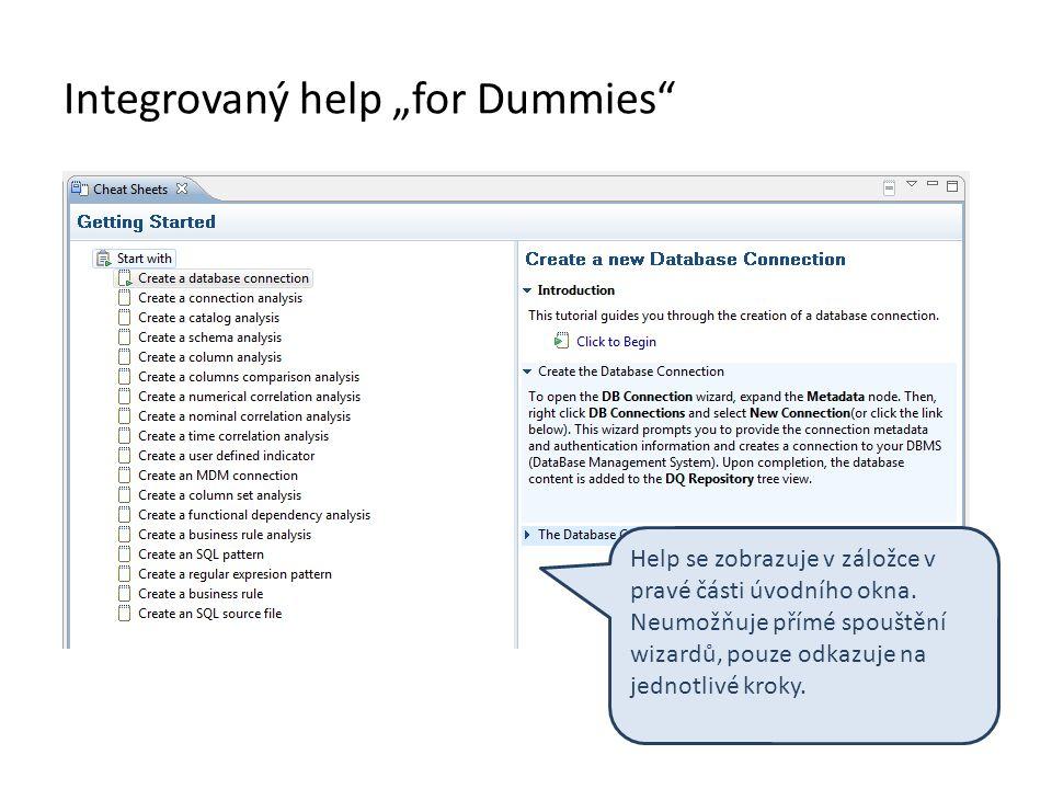 "Integrovaný help ""for Dummies"