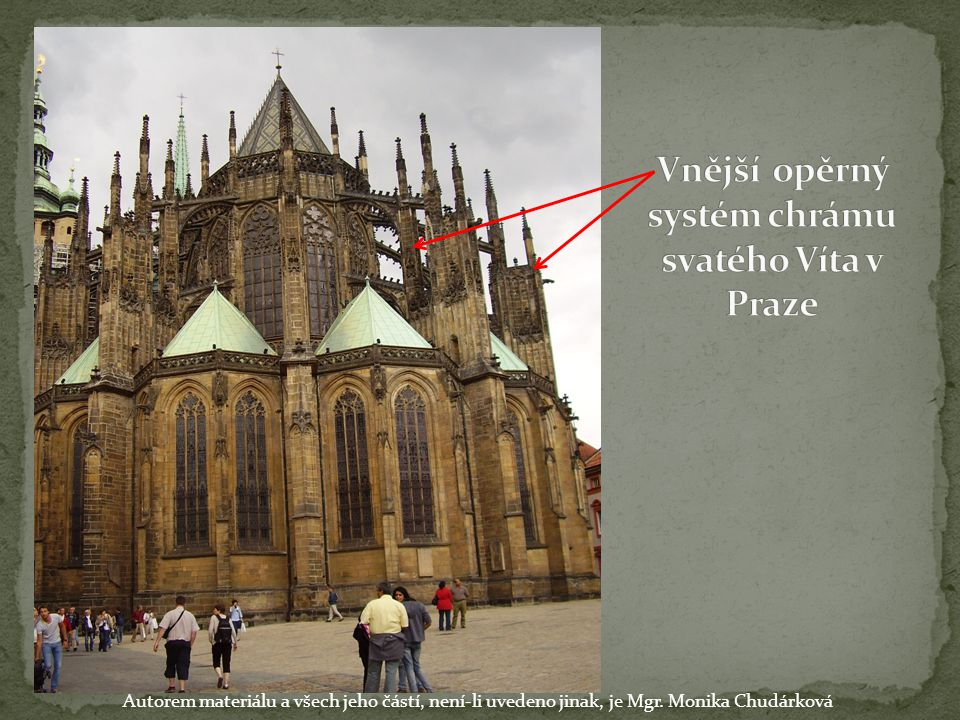 Vnější opěrný systém chrámu svatého Víta v Praze