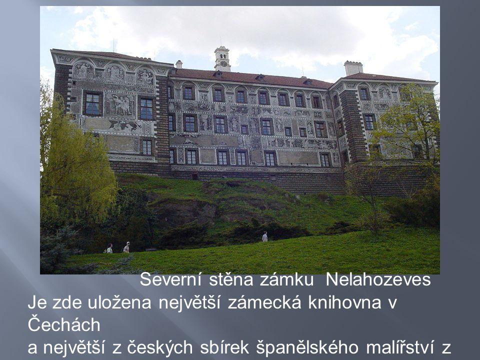 Severní stěna zámku Nelahozeves