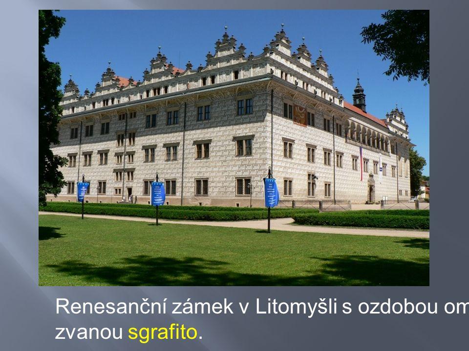 Renesanční zámek v Litomyšli s ozdobou omítky