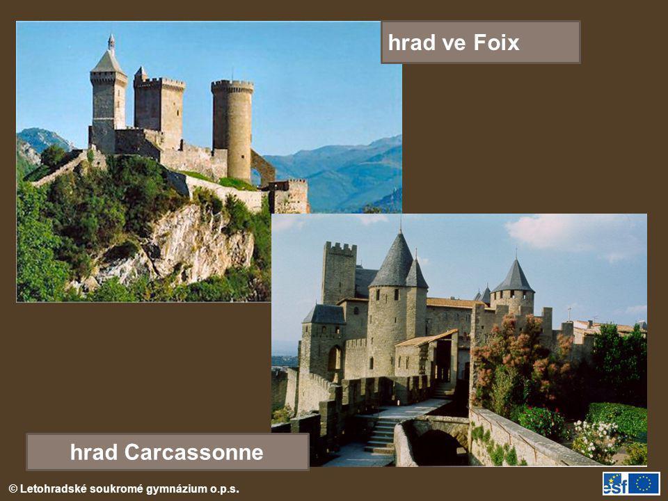 hrad ve Foix hrad Carcassonne