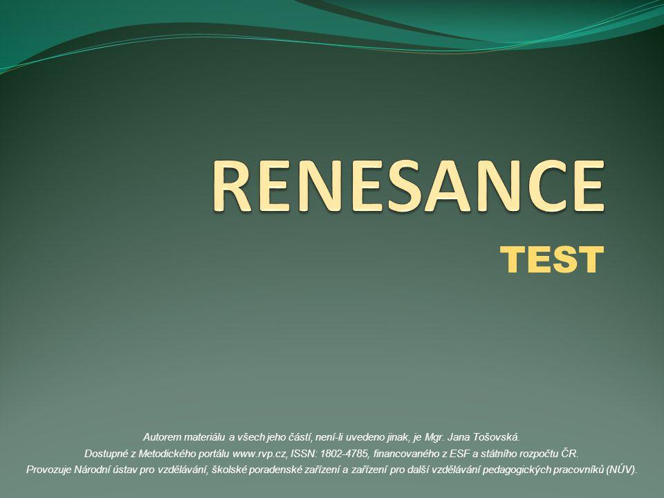 RENESANCE TEST.
