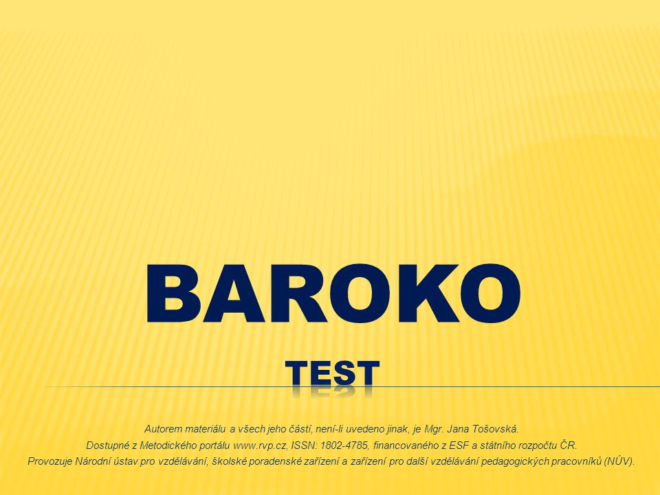 BAROKO Test.
