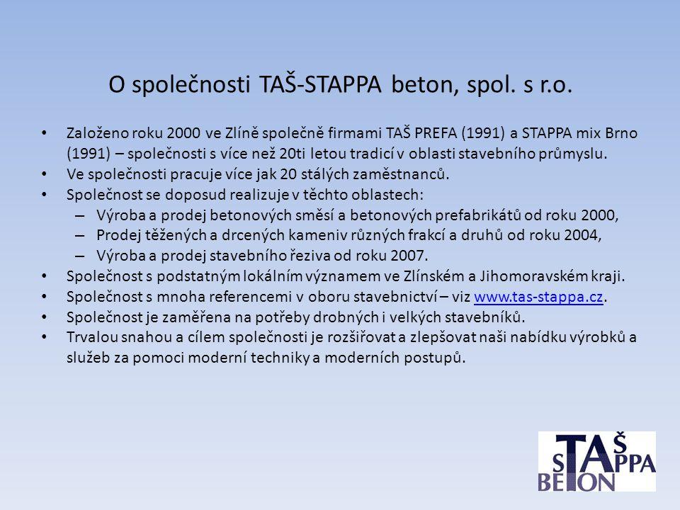 O společnosti TAŠ-STAPPA beton, spol. s r.o.