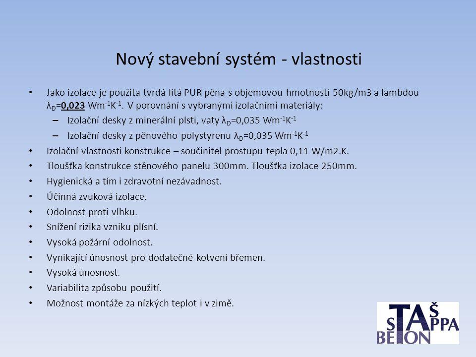 Nový stavební systém - vlastnosti